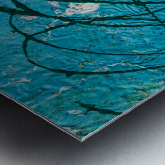 light blue abstract Metal print