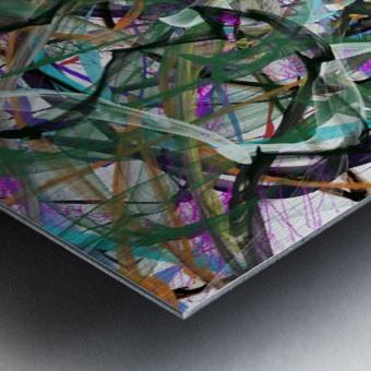 dancingonFire_GreenBlackBlue Metal print