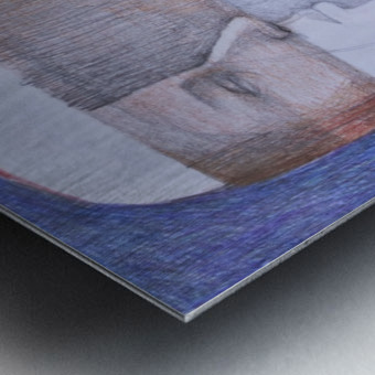 whiteswan and man Metal print