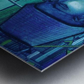 forgé de bleu Metal print