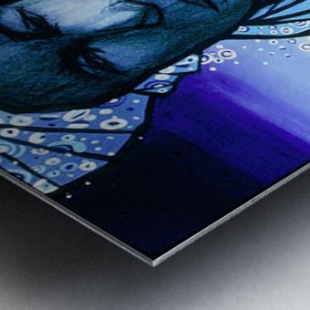 femme au turban bleu Metal print