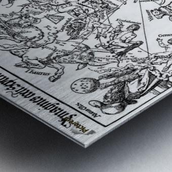 Star map Metal print