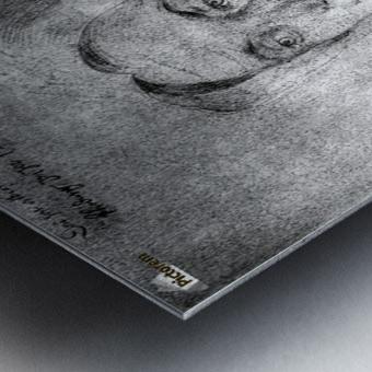 Agnes Durer in Dutch Tracht Metal print