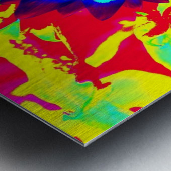 Graphic Flower Effect 2 Metal print