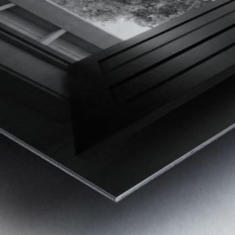 Open Door Black & White Metal print