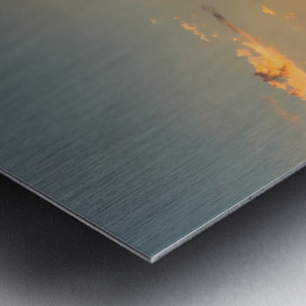 Sunset Hut Metal print