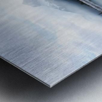 Canmore Winter Mountain Panorama Metal print