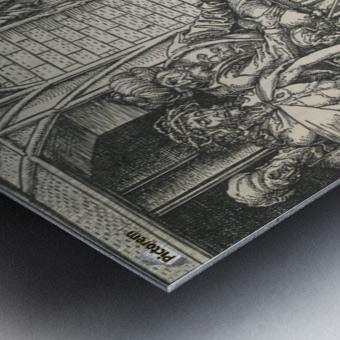 Jesus Christ taken to public Metal print