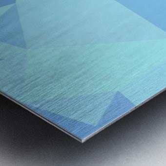 abstract geometric triangular art Metal print