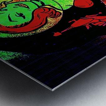 retro space hotttie Metal print
