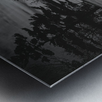 Empty Bench Metal print