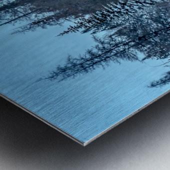 River and snow Metal print