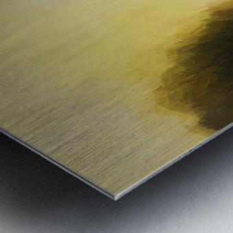 Impressionist landscape Metal print