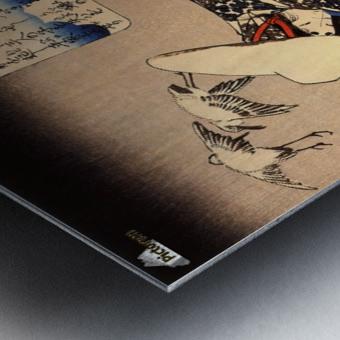 Tokiwa-Gozen with her three children in the snow Metal print