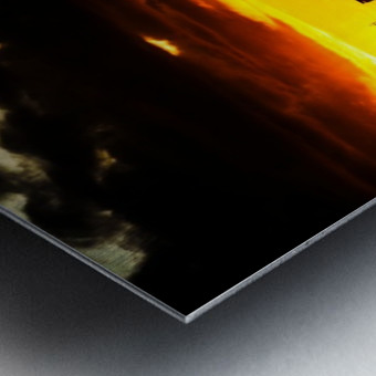 LA On fire Metal print