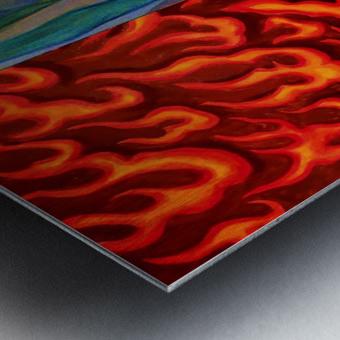 4 elements A Metal print