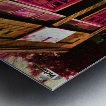 Atlanta Street Scene -- Red Metal print
