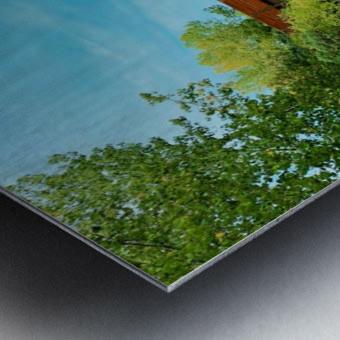 The Lonley Bridge Metal print