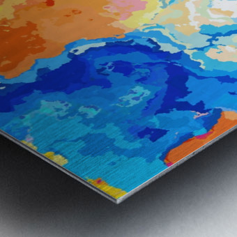 Marble XXXIV Metal print