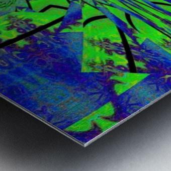 Dahlia in Green Metal print