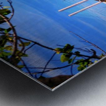 Burtons Boats and A Bridge Metal print