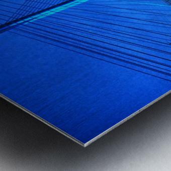 Blue Bridge In The Rain At Indian River Inlet Metal print
