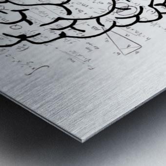 brain mind psychology idea drawing Metal print