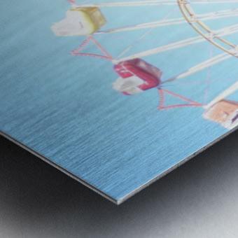 Ferris Wheel Against the Sky Metal print
