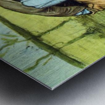 Cutting Grass by Van Gogh Metal print
