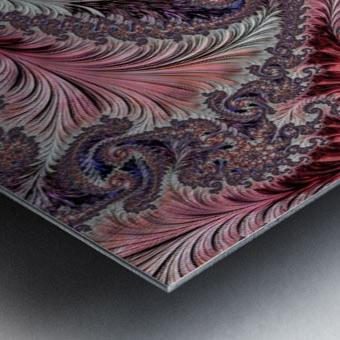 Fractal Art-Silk Brocade Metal print
