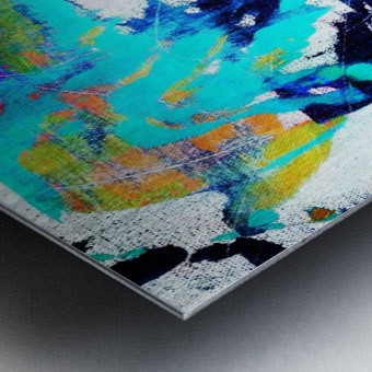 Abstract Ikat Impression metal