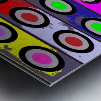 Circle Crazy by dePace Metal print