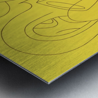Yellow_abstract_mr_atomic Metal print