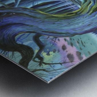 Mystic Flower Garden Metal print