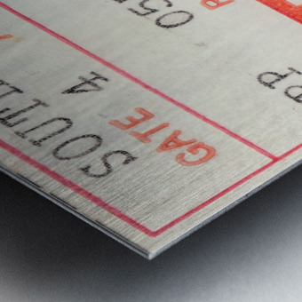 1978 Miami Dolphins Football Ticket Stub Art Metal print