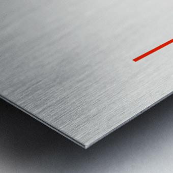 Shapes 04 - Abstract Geometric Art Print Metal print