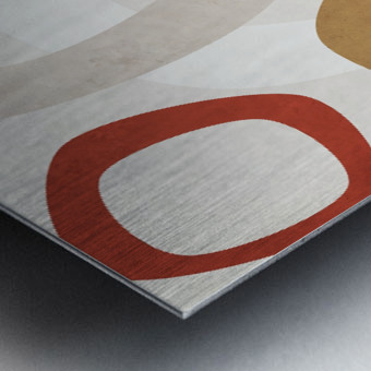 Shapes 08 - Abstract Geometric Art Print Metal print