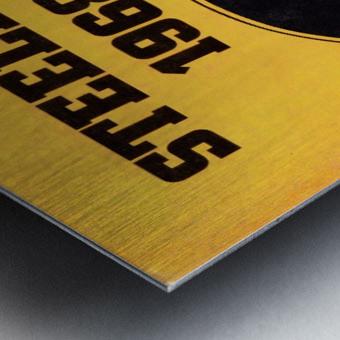 1968_National Football League_Pittsburgh Steelers_Media Guide_Row One Brand Vintage Media Guide Art Metal print
