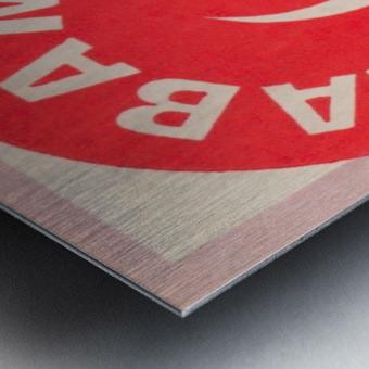University of Alabama Crimson Tide Football Ticket Stub Art Poster Metal print