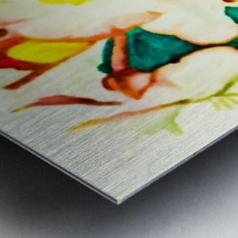 Radiant Flowers  Metal print