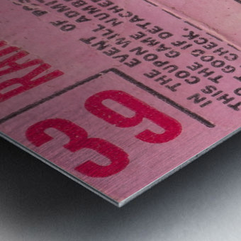 1970_Major League Baseball_Boston Red Sox Ticket Stub Art_Fenway Park Artwork_Red Sox vs. Orioles Impression metal