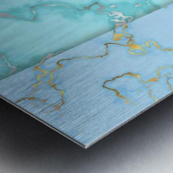 background marble set Metal print