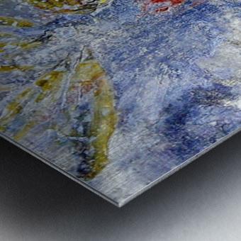 Abstract Single Metal print