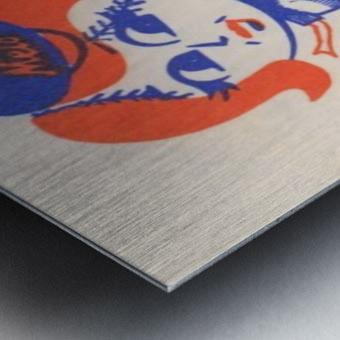 1977 new york mets art reproduction shea stadium retro baseball artwork row one brand Metal print