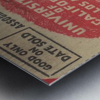 1937 USC Trojans vs. UCLA Bruins College Football Ticket Stub Art Admit One Row One Brand Metal print