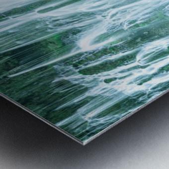 The Flowing Wall Metal print
