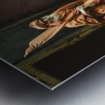 Varanasi Window - Pilgrim Metal print
