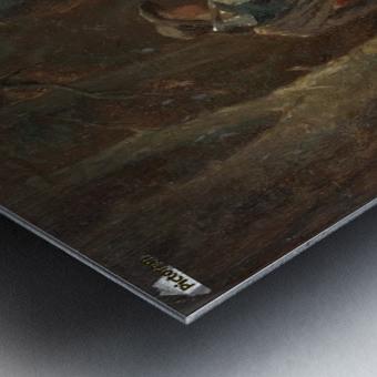 Reiter im Wald Metal print