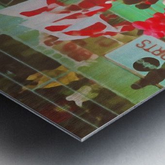 nebraska football art vintage college poster Metal print