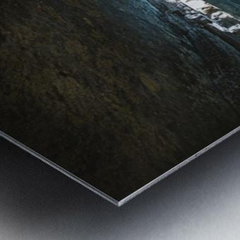 The Blue Cave Metal print